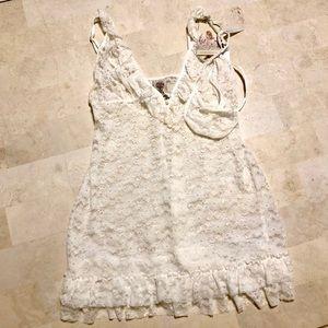 White Lace Teddy Lingerie Set
